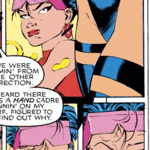 It's fair to assume that whatever Jubilee is doing in the background is roughly a million times more entertaining than whatever's going on in the A-plot. (Uncanny X-Men #268)