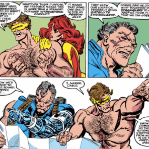 I know they hadn't been retconned to be father and son yet, but this is some great accidental foreshadowing all the same. (X-Factor #60)
