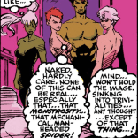Fortunately, the Genoshans were able to outfit them with strategically placed shadows and thought balloons. (New Mutants #95)