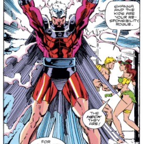 No one gets dressed more dramatically than Magneto. (Uncanny X-Men #274)