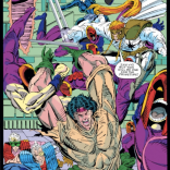 On one hand: this is a mess. On the other hand: it's also pretty awesome. The Liefeld conundrum. (New Mutants #100)