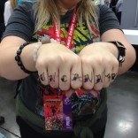 Jay also did sharpie knuckle tats. Above: UNCANNYX
