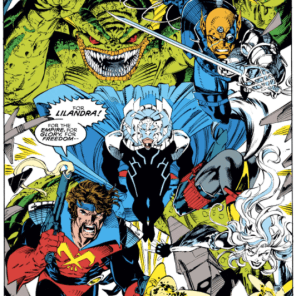 Oh, man, the Starjammers are so cool, even when they're evil alien duplicates. (Uncanny X-Men #275)