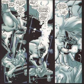 """""""If only my bones were made out of something super dense that made me useless underwater, amirite?"""" (X-Men: True Friends #2)"""