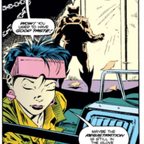 That, Jubilee, is a Lotus 7. Your mentor's car. Not as clumsy or overwrought as a DeLorean. An elegant media reference... for a more civilized age. (Wolverine #48)