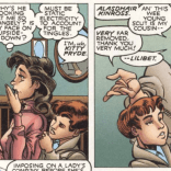Lilibet wants nothing to do with that ludicrous accent. (X-Men: True Friends #1)