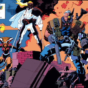 Somewhere, there's a universe where Mignola drew a bunch of X-Force, and the '90s were a very different time. (X-Force #4)