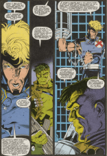 """Good talk! So, back to paternalistic interference?"" (The Incredible Hulk #392)"