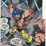 SERIOUSLY WHAT ARE THOSE THINGS HE'S STUCK IN (X-Men #7)