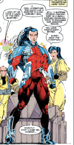Sunfire's new costume. (Uncanny X-Men #284)
