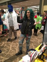 There was surprisingly little Gifted cosplay, but this Polaris was cool enough on her own to more than make up for the absence of her compatriots.
