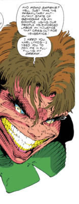 That's a lot of teeth, Toad. (X-Force #5)