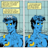 Nightcrawler: canonically EXTRA heroic. (Excalibur #46)