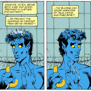 Nightcrawler: canonically EXTRA heroic. (Excalibur #46)