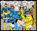 Aw, they all posed. (X-Men #8)
