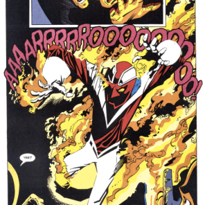 (Okay, fine, I also threw in a Captain Britain suit on fire.) (Excalibur: Air Apparent)
