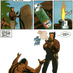 Damn, Fury, get some better mementos. (Wolverine: The Jungle Adventure)