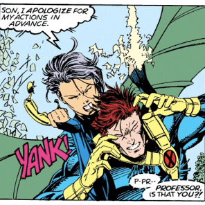 """Hey, wanna see if we can make the Psylocke/Cyclops sexual tension even MORE uncomfortable?"" (X-Men #11)"