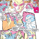 I don't know what it is about the astral plane being colored with highlighters that works for me, but man, does it ever. (Uncanny X-Men #291)