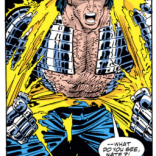And then on the next page, he dramatically rips his shirt off, because, look, SOMETIMES YOU JUST GOTTA. (Cable: Blood and Metal #2)