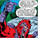 Drunk-at-a-Party Magneto, with Real Ranting Action (TM)! (Captain America Annual #4)