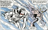 Sal Buscema, how did you make Rom's character design look this cool? It's like Walter Simonson and Archangel! (Rom #18)