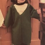 As promised, here is a photograph of two-year-old Jay dressed as a compsognathus.