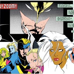 Seriously, though, that could not get more Patrick Nagel if Patrick Nagel had drawn it. (X-Factor #86)