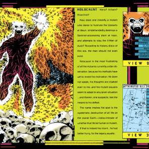 This dude would not appear in the main Marvel Universe until about a decade after he was introduced here. (Stryfe's Strike File)
