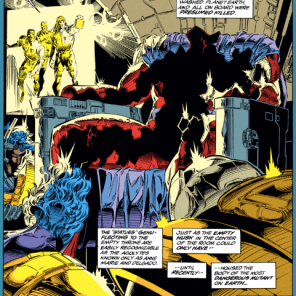 Somewhere, a damp Magneto is skittering around waiting for his new carapace to harden. (Uncanny X-Men #299)