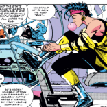 Does it seem weird to anyone else that Jubilee is putting her skates on in Professor X's news den? Is there even room for that? (X-Men #20)