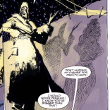 """I see,"" readers concluded, ""The villain is clearly a very tall lady with no arms."" (Wolverine: Inner Fury)"