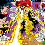 Remember - neither of these women actually has flame powers! (New Warriors #31)