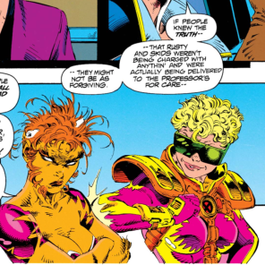 Boom-Boom and Feral: best frenemies ever. (X-Force #24)