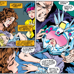 """""""It won't save her, but she'll at least get to play some Rad Racer."""" (Uncanny X-Men #303)"""