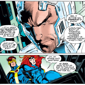 This implies that Xavier's decision to wipe Magneto's mind was the plan from the start... (X-Men #25)