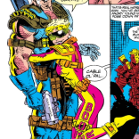 Have I decided to include ever panel of Cable getting hugged in this issue? Yes. Yes, I have. (X-Force #25)