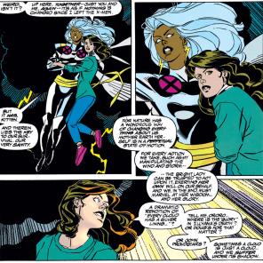 One of the best of many callbacks. (Uncanny X-Men #304)