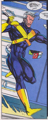 It is actually a pretty sharp costume once you take off all the goofy stuff. (X-Factor #93)