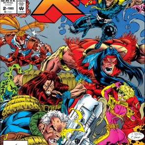 They look like they're fighting for space on the cover. (X-Force Annual #2)