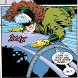 I wonder if she just kisses planes every once in a while just in case one turns out to be a Transformer. (Rogue #1)