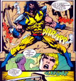 HOW DID HE FIT THE PAULDRONS UNDER THE TUXEDO? (Sabretooth: Death Hunt #3)