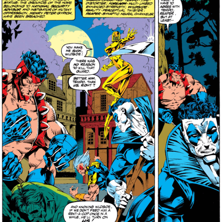 Four arms--and a conscience. (X-Force #27)