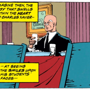 Excellent use of ironic juxtaposition, there. (Uncanny X-Men #208)