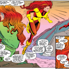 "Jean ""Grab fate by the throat and hold on until it stops moving"" Grey. (Uncanny X-Men #208)"
