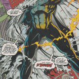 I don't understand D'Spayre's torso muscles; and, frankly, I don't care to. (Excalibur #76)