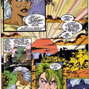 Storm and Polaris: a study in contrasts. And not just the hair. (X-Factor #101)