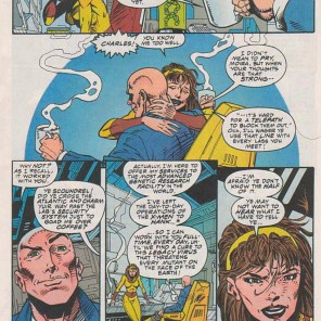 I don't entirely know how to process charming Charles Xavier. (Excalibur #78)