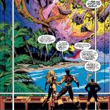 The end of the world looks pretty rad. (X-Men #35)