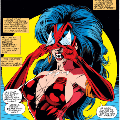 "This looks like a ""Sexy Spider-Woman"" costume from Party City. (X-Force #34)"